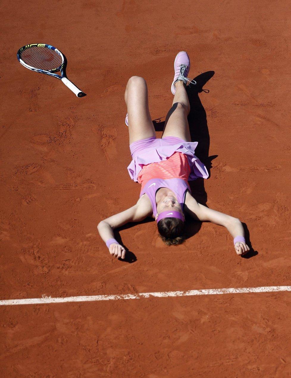 Chvíle štěstí v podání české tenistky