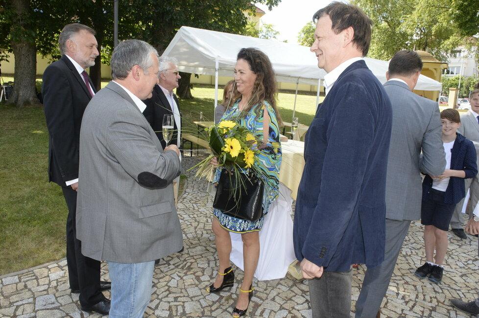Klausovi přišla popřát i Jana Bobošíková.