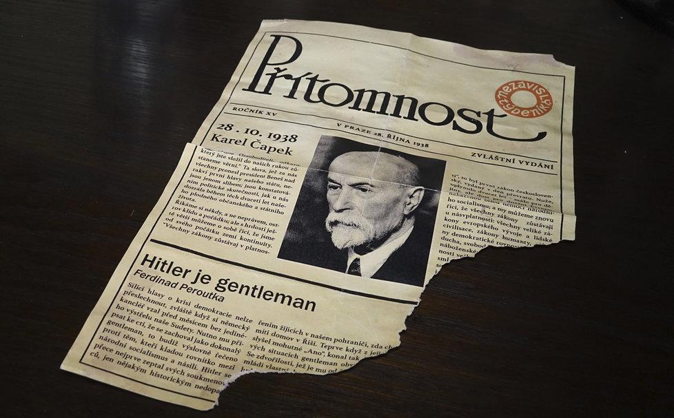 Údajný článek Hitler je gentleman