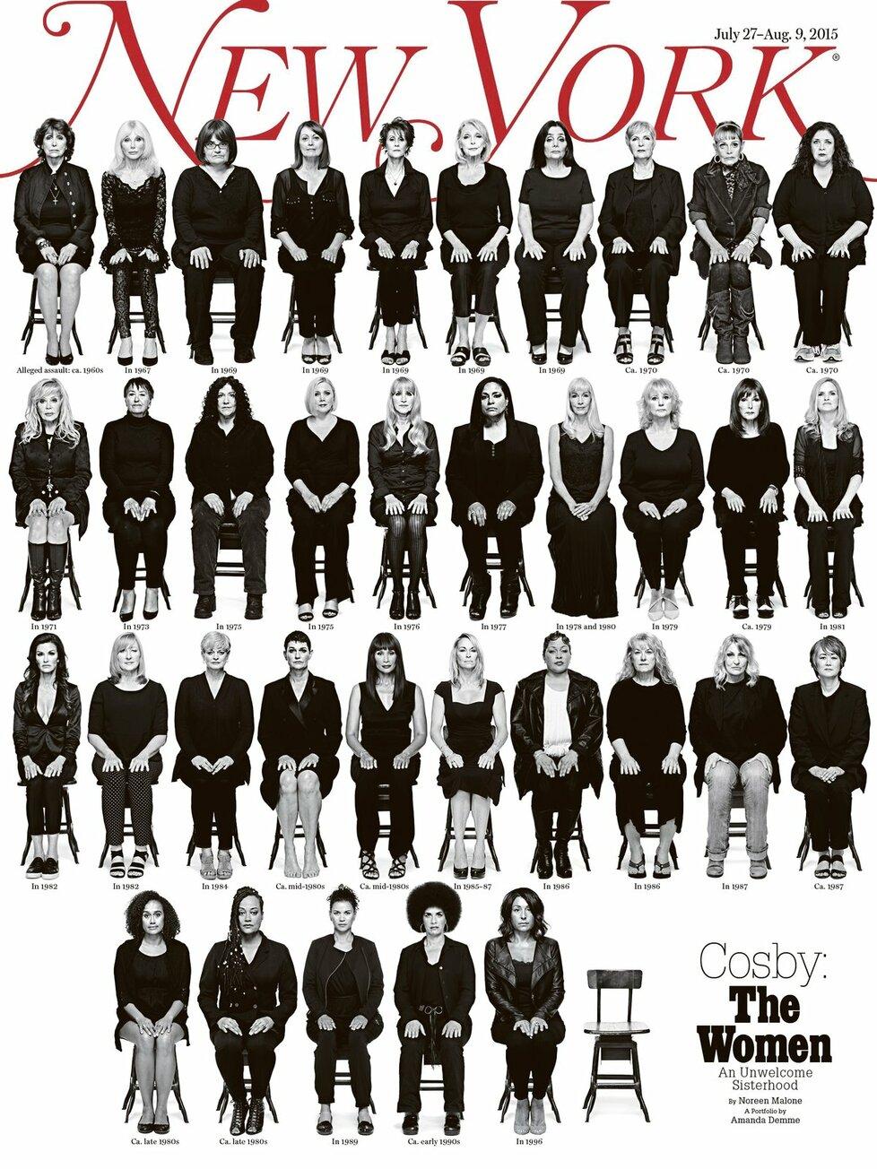 Seznam žen, které Cosby znásilnil.