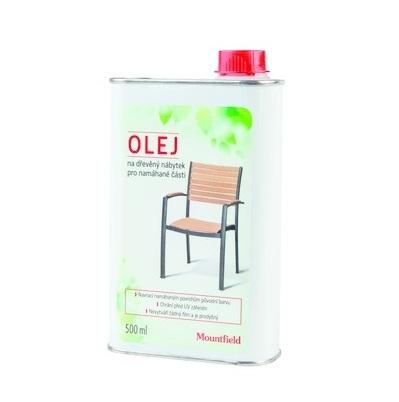 Ochrání před vysycháním a praskáním. Dřevěný nábytek by měl být olejem ošetřovaný pravidelně.