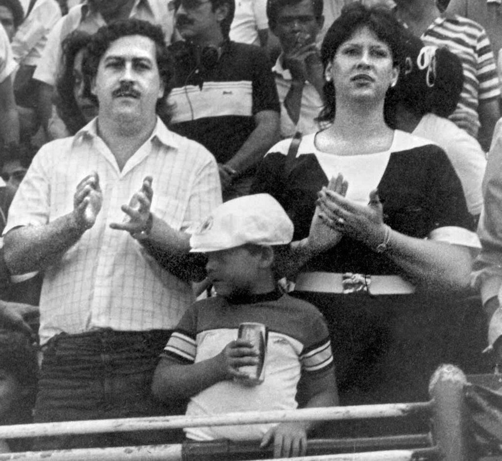 Escobar s manželkou a synem