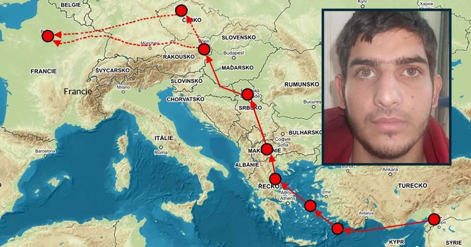 Syřan Ahmad Almuhammad se do Paříže dostal přes Řecko.