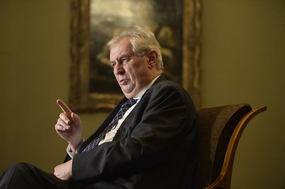 Rozhovor Blesku s prezidentem Milošem Zemanem na Pražském hradě
