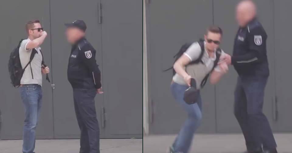 Mladíci si chtěli vystřelit z policisty, ten je ale převezl.