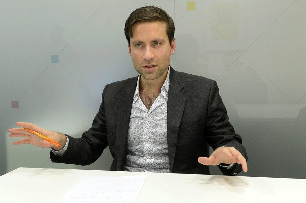 Přední ekonom Lukáš Kovanda.