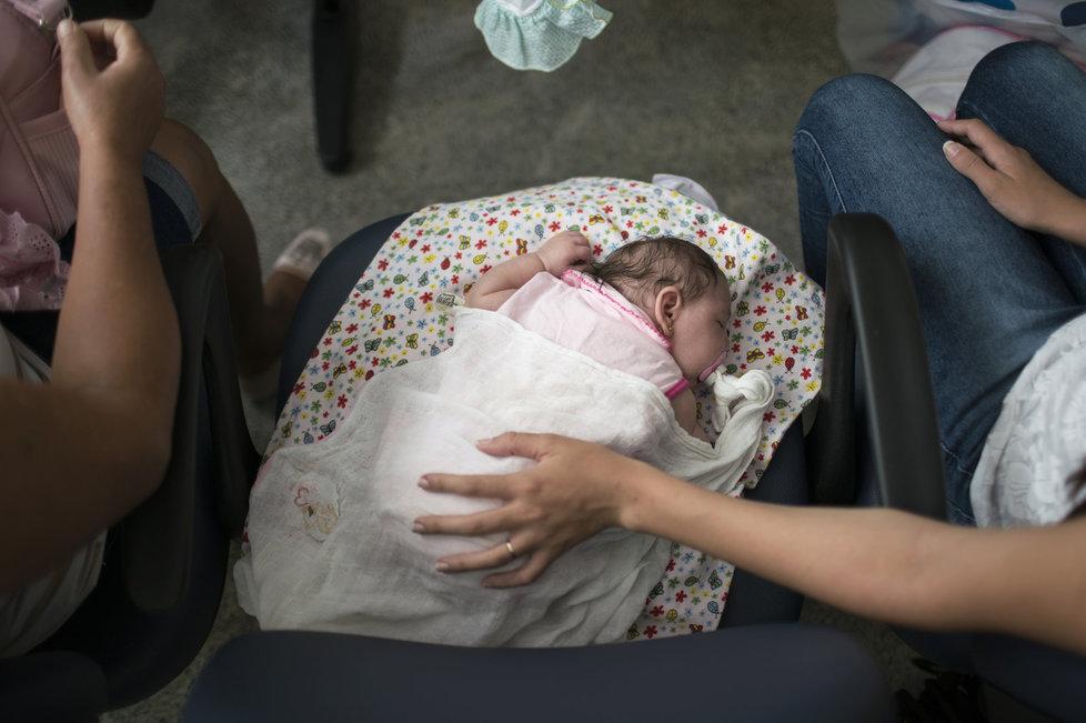 Virus zika způsobuje, že se nakaženým matkám rodí děti s výrazně menší hlavou, což je často zapříčiněno nedostatečně vyvinutým mozkem.