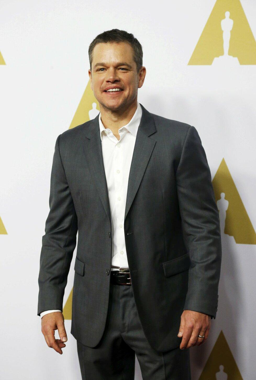 Matt Damon je nominovaný za roli ve filmu Marťan.