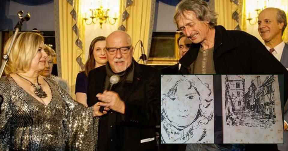 Coelho vypátral českého malíře. Ivan Tomek před 34 lety nakreslil spisovatelu manželku.