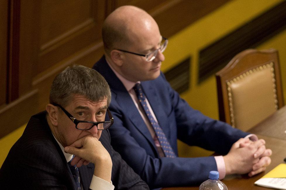 Andrej Babiš vedle Bohuslava Sobotky ve sněmovně