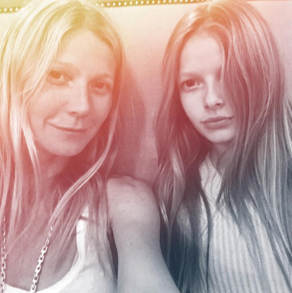 Gwyneth se svou dcerou Apple