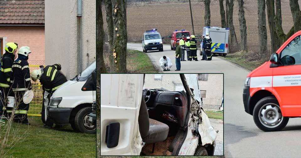 Mrtvola v autě na Benešovsku: Ve vybouraném autě ho zapomněl opilý řidič.