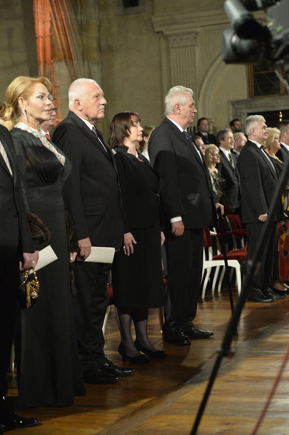 Václav Klaus na předávání státních vyznamenání 2015