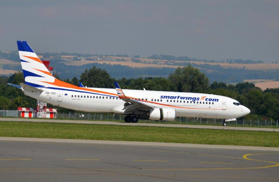 Letadlo Smartwings na letišti v Ostravě
