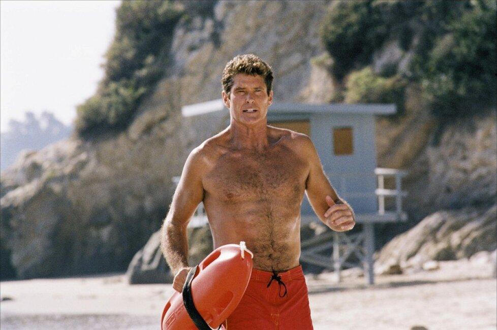 1989 - David Hasselhoff v červených plavkách pobřežní hlídky
