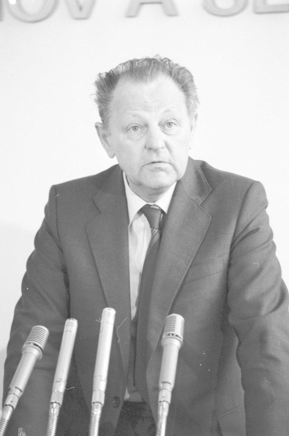 Někdejší generální tajemník ÚV KSČ Milouš Jakeš