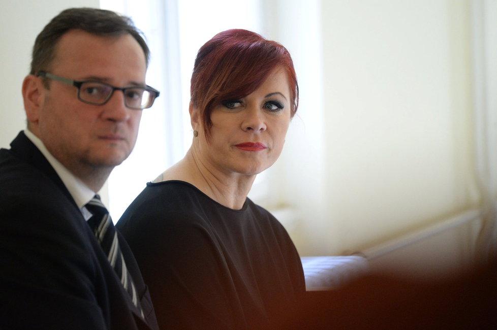 Expremiér Petr Nečas a jeho manželka Jana Nečasová