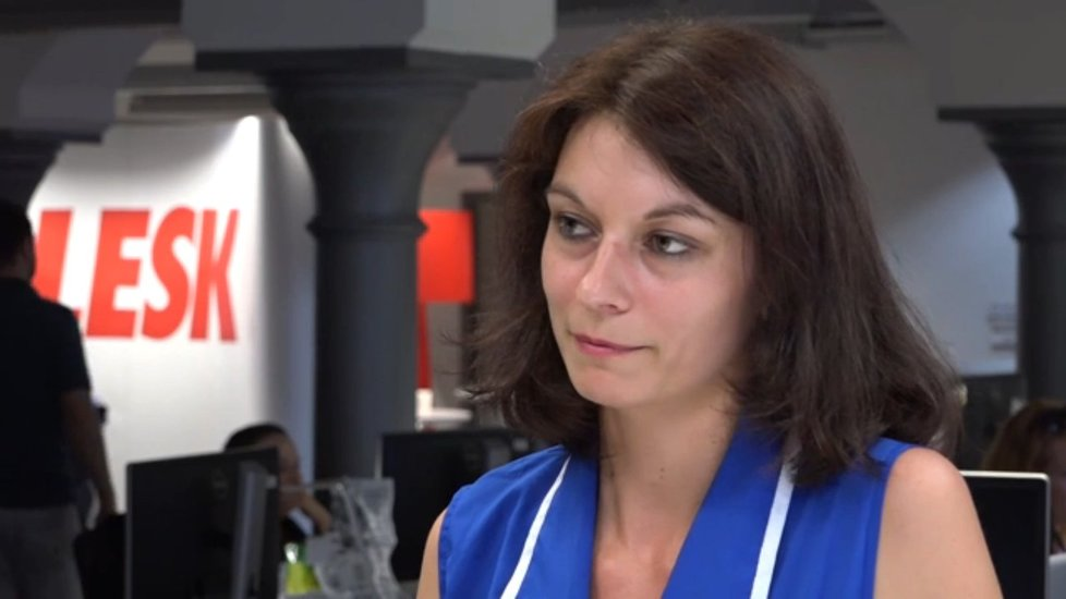 Monika Hilšerová ve studiu Blesku