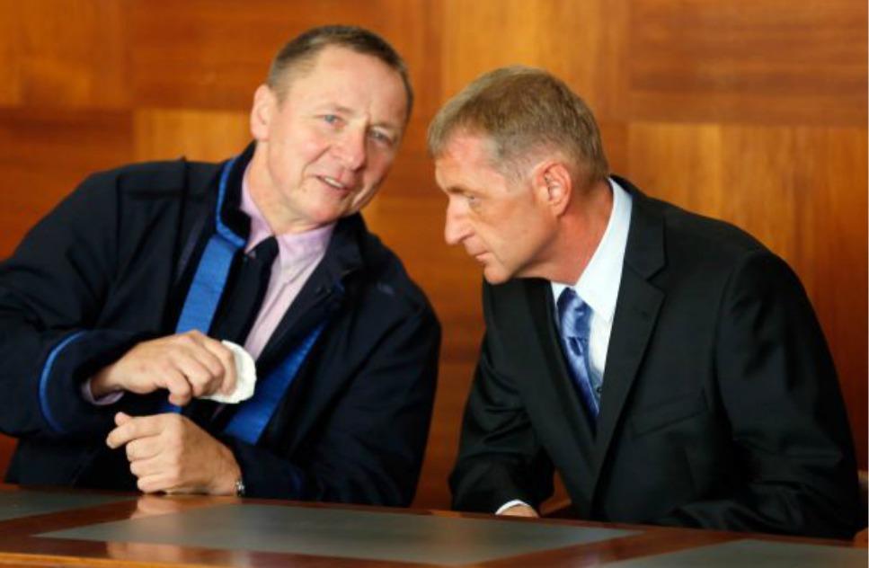 odsouzený podnikatel Roman Janoušek (vpravo)