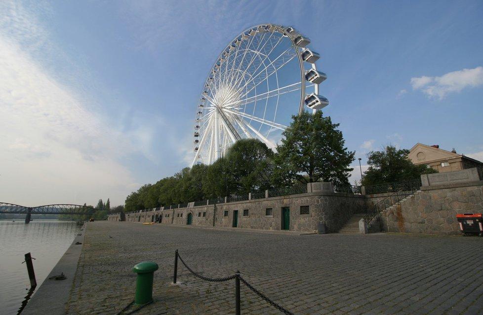 Ruské kolo na Smíchově má být dle původního plánu 60 metrů vysoké.