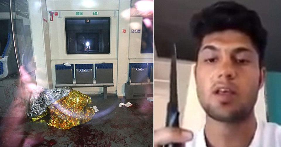 Afghánský uprchlík zabíjel ve vlaku.