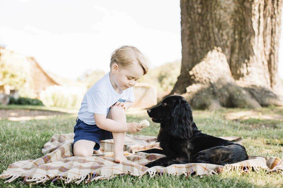 Princ George pár dnů před svými třetími narozeninami