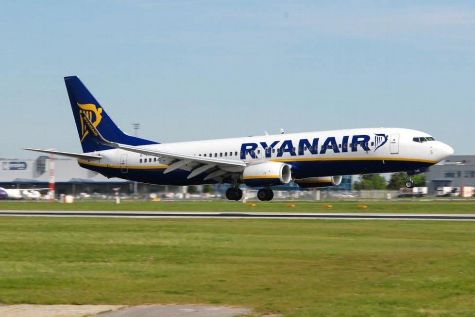 Letadlo společnosti Ryanair muselo nouzově přistát v Německu kvůli poklesu tlaku (ilustrační foto)