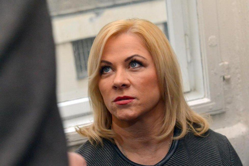Jana Nečasová, dříve Nagyová, někdejší šéfka kabinetu expremiéra Petra Nečase a jeho nynější manželka obžalovaná ze zneužití Vojenského zpravodajství 20. listopadu u Obvodního soudu pro Prahu 1.