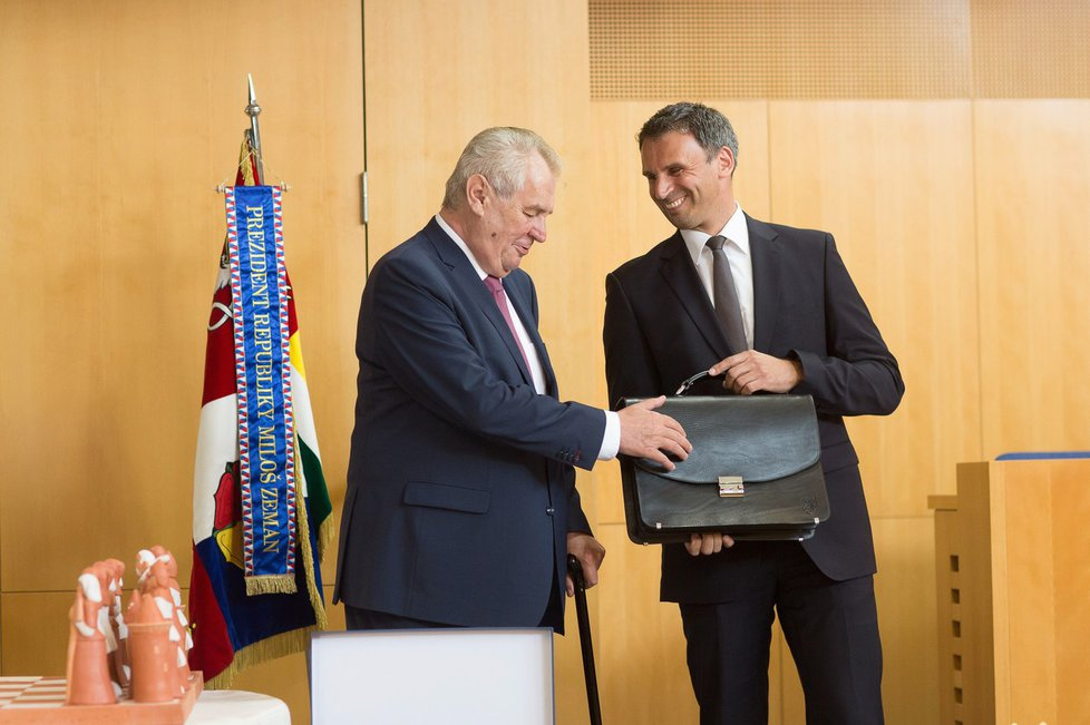 Miloš Zeman s Jiřím Zimolou