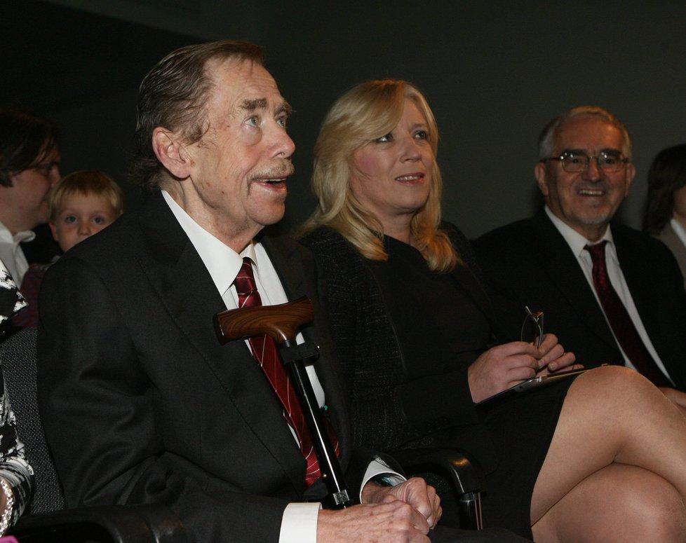 Iveta Radičová s Václavem Havlem v roce 2012