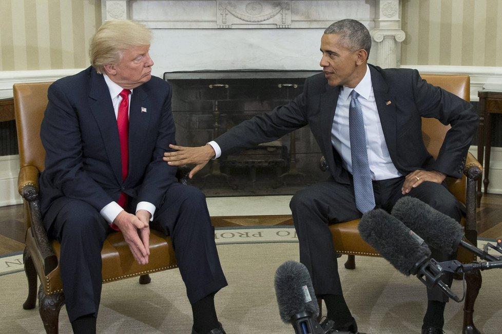 Donald Trump a Barrack Obama