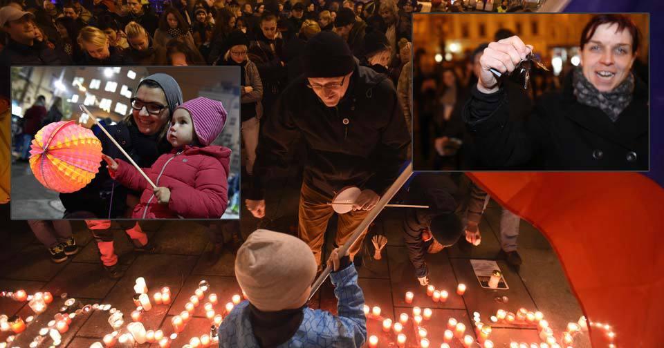 Takhle se v Česku slavil 17. listopad