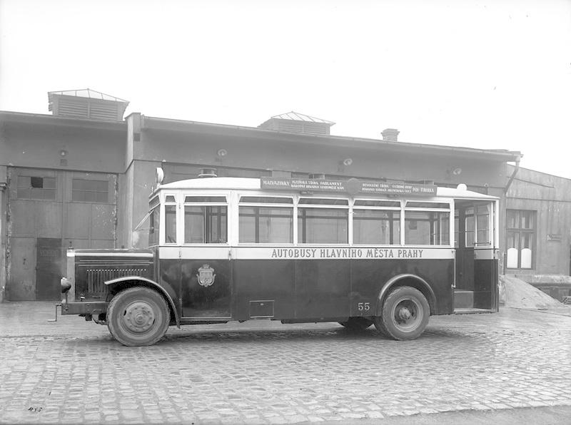 Takto vypadal autobus Škoda 506 N, vyráběný od roku 1929, v minulosti za provozu.