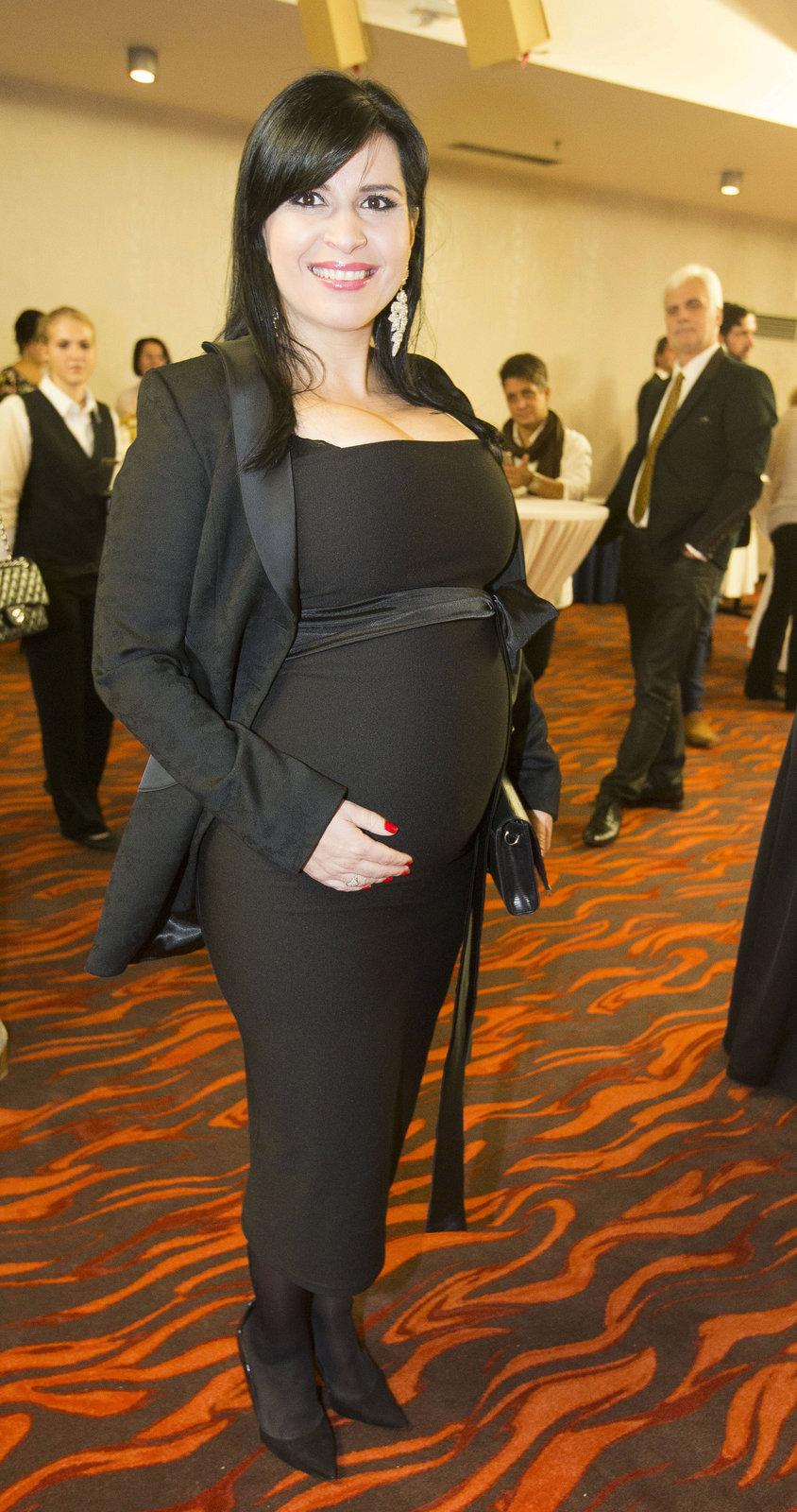 Andrea Kalivodová v 8. měsíci těhotenství.