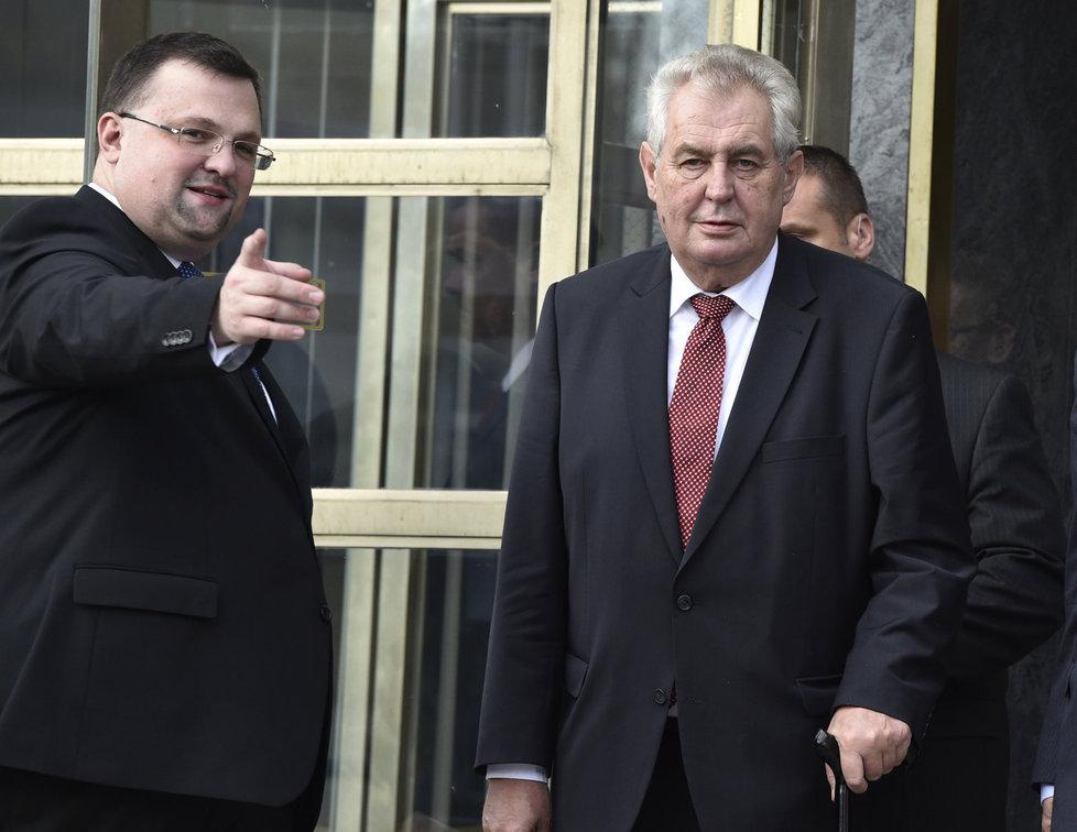 Prezident Miloš Zeman a dnes již bývalý šéf hradního protokolu Jindřich Forejt