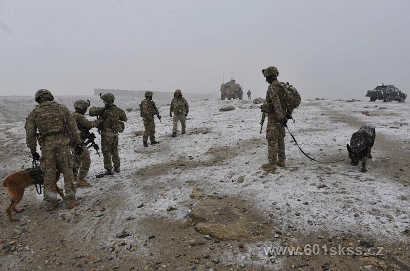 601. skupina speciálních sil z Prostějova v Afghánistánu.