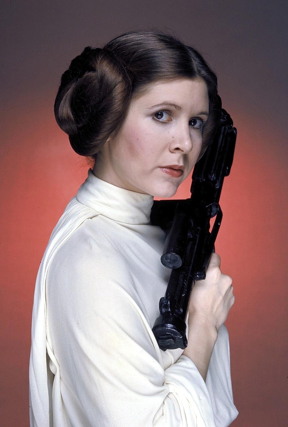 Carrie Fisher jako princezna Leia v původní trilogii Star Wars