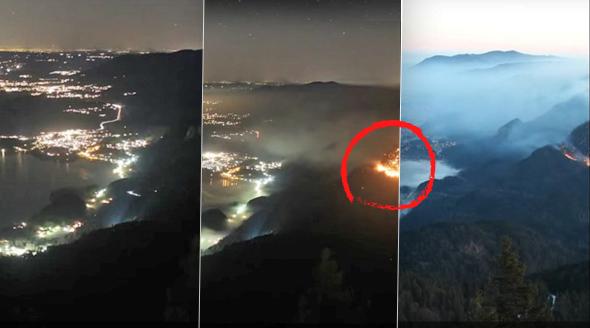 Dva neopatrní horolezci založili požár v německých Alpách.