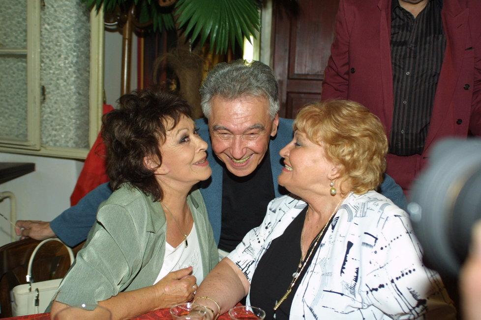 Jiřina Bohdalová, Josef Zíma a jeho manželka.