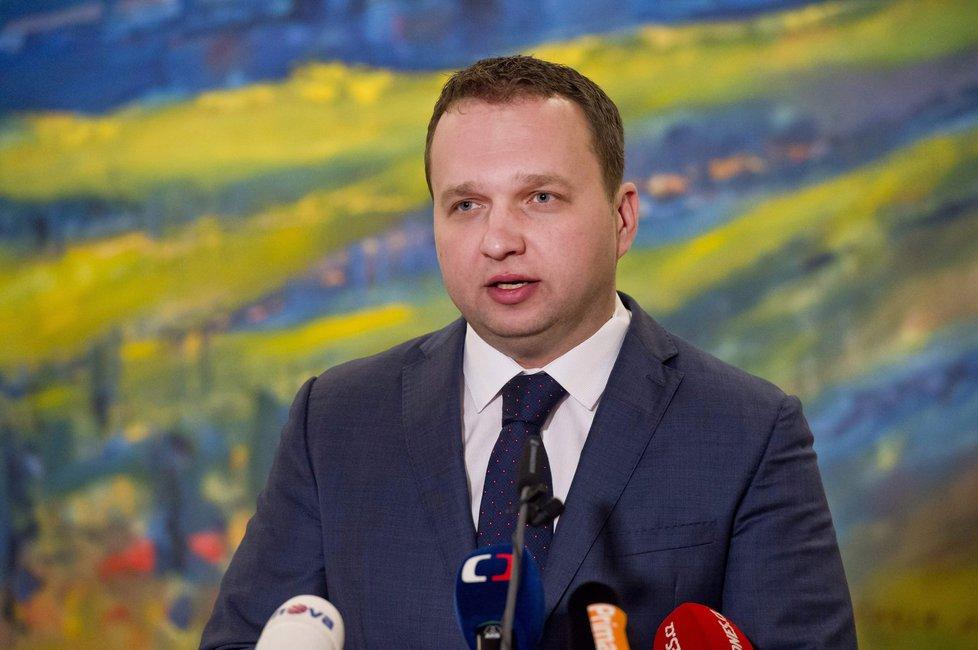 Marian Jurečka na tiskovce ministerstva zemědělství