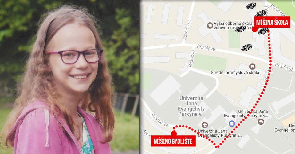 Míša zmizela ve středu ráno. Do školy, která je od jejího bydliště vzdálena 400 metrů už nedošla, věci s sebou ale měla.