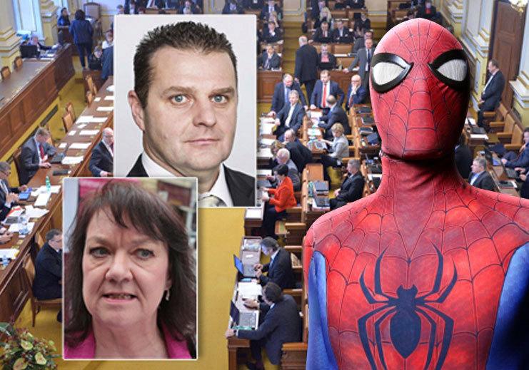 Žádný Spiderman, ale Pavoučí muž, chtějí komunističtí poslanci.