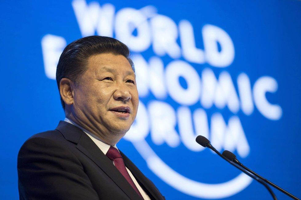 Čínský prezident Si Ťin-pching na Světovém ekonomickém fóru