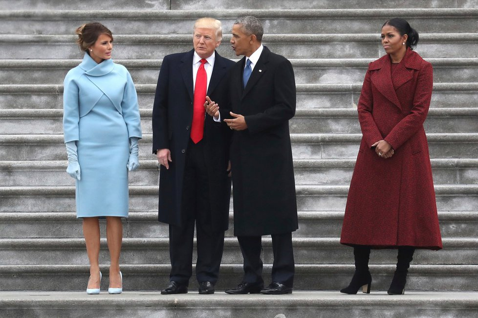 Inaugurační den Donalda Trumpa.