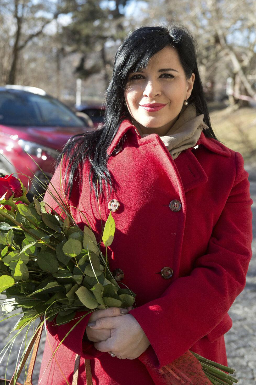 Operní pěvkyně Andrea Kalivodová si domů z porodnice přinesla druhého syna Sebastiana. Přijel pro ni manžel Radek a starší syn Adrian.