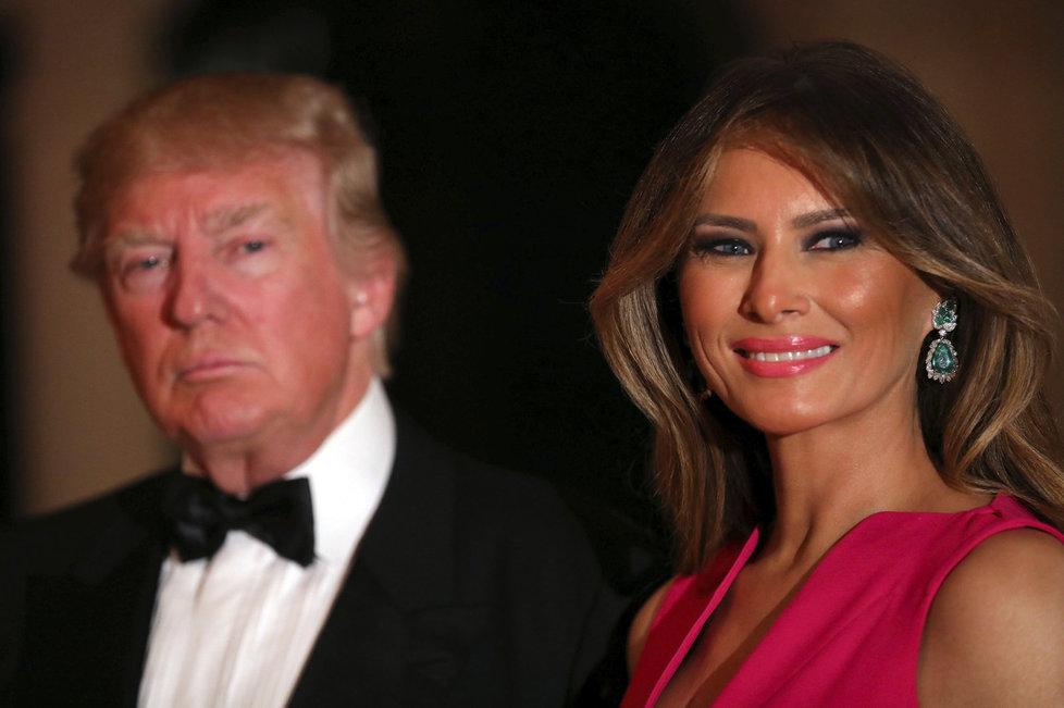 Prezident Donald Trump s manželkou Melanií