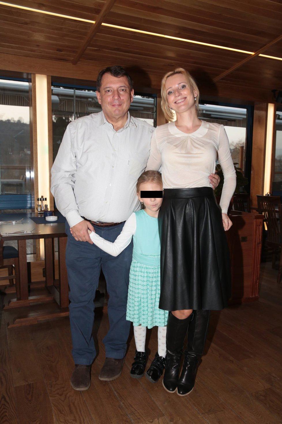 Jiří a Petra Paroubkovi s dcerou Margaritou