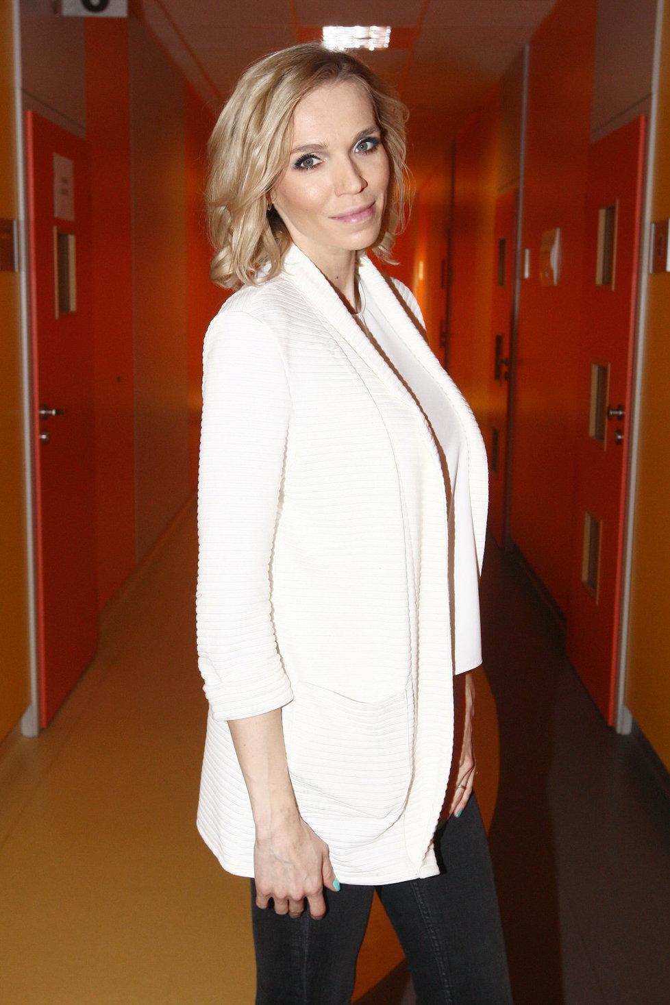 Hana Mašlíková v druhém trimestru těhotenství
