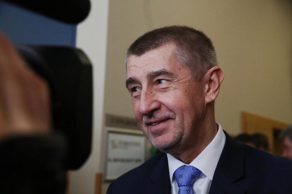 Andrej Babiš na sjezdu STAN