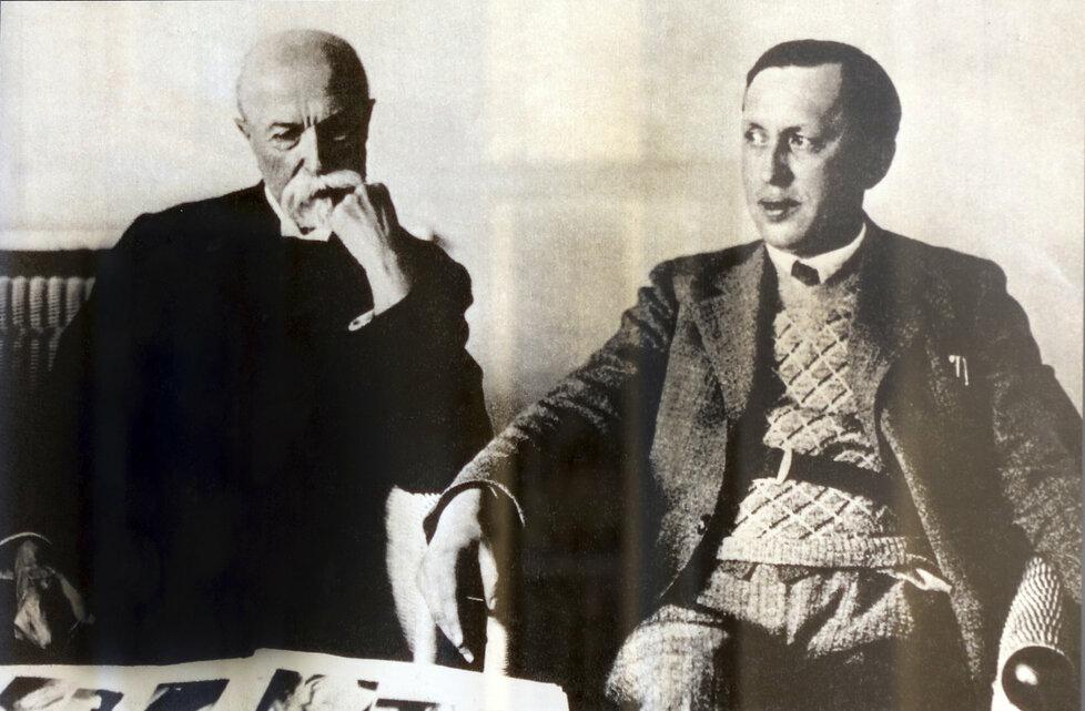 Karel Čapek a T. G. Masaryk.